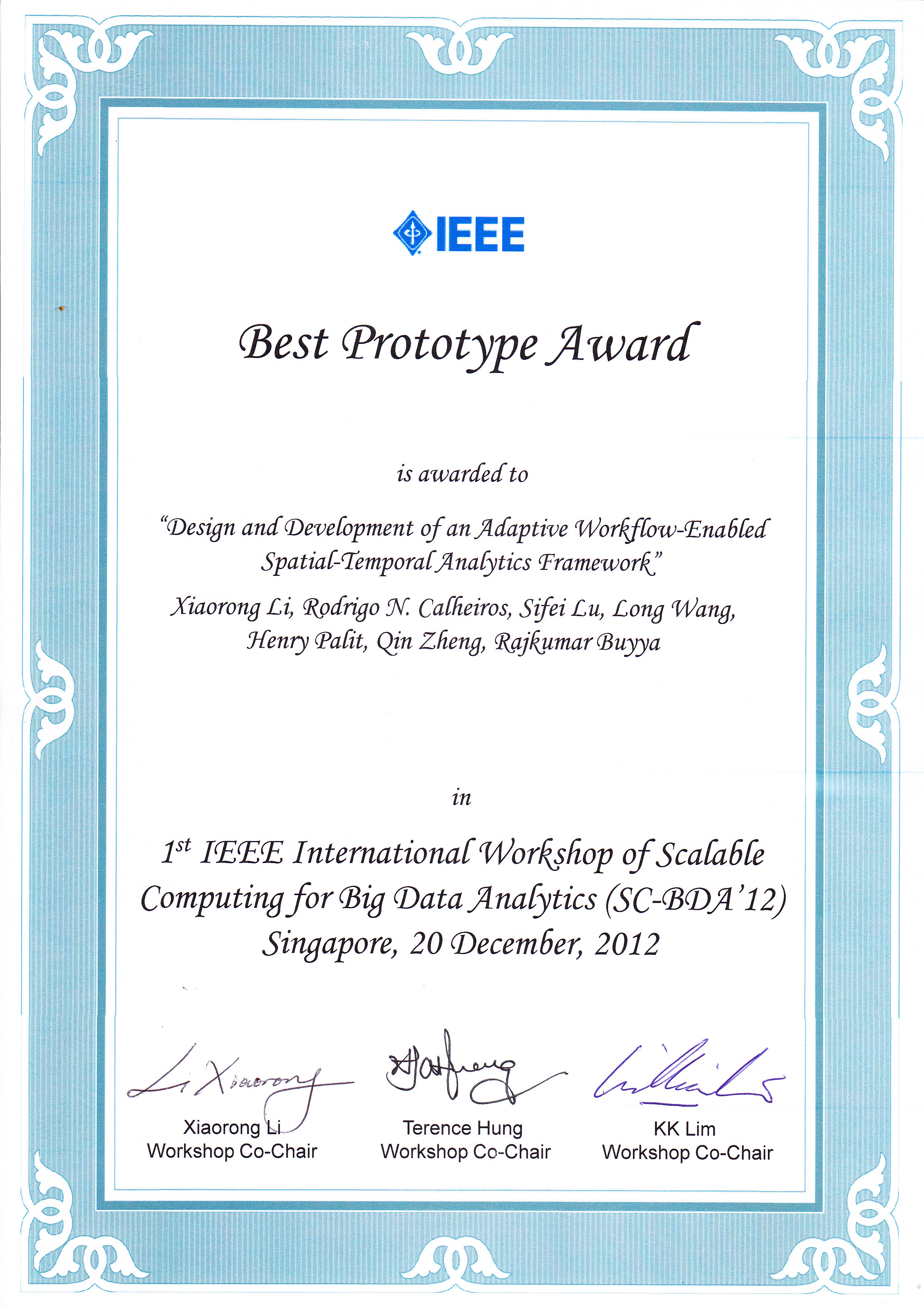 Ieee research papers in computer science 2012